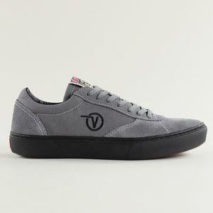 Vans Gray Black Canvas Suede Logo Paradoxxx Shoes